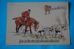 CPSM Illustrateur JACK PARTITION MUSIQUE Sonneries Trompes CHASSE A COURRE CHEVAL CHIENS Ton De Quête 1950/1960 - Autres Illustrateurs
