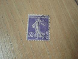 Timbre Semeuse 35 C   Reste De Charnière. - 1900-02 Mouchon