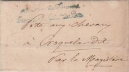 Lettre De L'Administration Des Postes, Bureau Des Relais Pour La Poste Aux Chevaux De Lamagistère . - Storia Postale