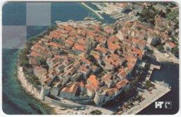 CROATIA B-859 Chip HT - View, Town, Korcula - Used - Kroatien