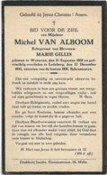Doodsprentje *  Van Alboom Michel (° Wetteren 1888 / + Ledeberg 1935) X Gillis Marie - Religion & Esotérisme