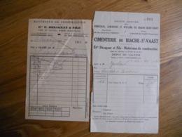 2 PETITES FACTURES DESAGNAT ET FILS MATERIAUX COBSTRUCTION VALVINS AVON FONTAINEBLEAU ANNEES 30 - France