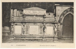 POSTAL    POBLET  -TARRAGONA  -SEPULCRO DE D. JAUME I - España