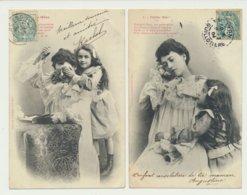 Lot De 2 Cartes Petite Mère - Phototypie Bergeret - Bergeret