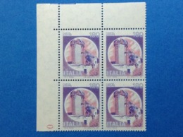 1980 ITALIA FRANCOBOLLI NUOVI STAMPS NEW MNH** CASTELLI D'ITALIA GAVONE CASTELLO 180 LIRE QUARTINA - 1946-.. Republiek