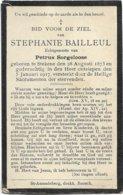 Doodsprentje *  Bailleul Stephanie (° Stekene 1873 / + Stekene 1917) X Sorgeloose Petrus - Religion & Esotérisme