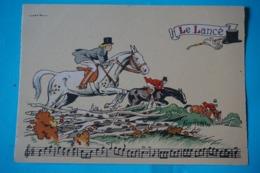 CPSM Illustrateur JACK PARTITION MUSIQUE Sonneries Trompes CHASSE A COURRE CHEVAL Le Lancé 1950/1960 - Autres Illustrateurs