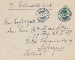 Nederlands Indië - 1923 - 20 Cent Wilhelmina, Envelop G44 Van LB RANGKAS/BETOENG Naar Nijmegen / Nederland - Nederlands-Indië