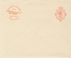 Nederlands Indië - 1930 - 12,5 Cent Wilhelmina Met Luchtpostreklame, Envelop G54b - Ongebruikt - Nederlands-Indië