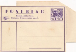 Nederlands Indië - 1942 - 7,5 Cent Karbouwen, Postblad G5b - Ongebruikt - Nederlands-Indië