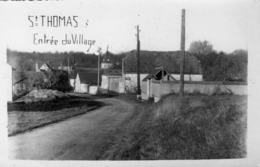 02-st Thomas-entree Du Village(carte Photo) - Autres Communes