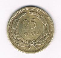 25 KURUS 1949  TURKIJE /8407/ - Turquie