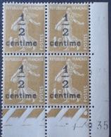 DF40266/819 - 1935 - TYPE SEMEUSE - BLOC N°279A TIMBRES NEUFS** CdF Daté - Coins Datés