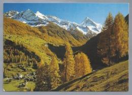 CH.- Les Haudères. Val D'Hérens Et La Dent Blanche. Ongelopen. - VS Valais