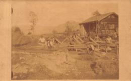 1921 POSTMARK TO KAIGASSE SALZBURG AUSTRIA ~ FARM SCENE- REAL PHOTO POSTCARD 42282 - Österreich