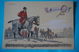 CPSM Illustrateur JACK PARTITION MUSIQUE Sonneries Trompes CHASSE A COURRE CHEVAL CHIEN Le Le Point Du Jour 1950/1960 - Ilustradores & Fotógrafos