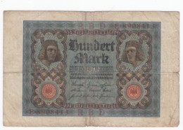 Germany #69a 100 Marks 1920 Banknote Money Currency - [ 3] 1918-1933 : Repubblica  Di Weimar
