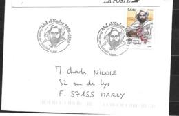 France:n°4145 Sur Lettre Avec Deux Superbes Cachets Du Portrait De L'émir Abd El Kader - Storia Postale