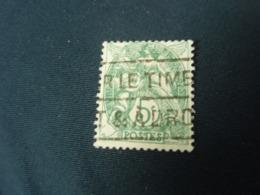 Timbre  Blanc 5 C - 1900-29 Blanc
