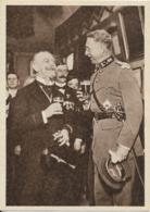 Bière - Monarchie Belge : Le Roi Albert Ier Et Le Bourmestre De Bruxelles, Adolphe Max, Dégustant Une Bière Belge. CPA. - Politicians & Soldiers