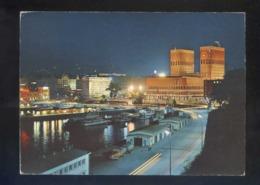 Oslo. *View Of The Harbour...* Circulada Oslo 1972. - Noruega