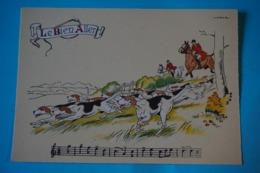 CPSM Illustrateur JACK PARTITION MUSIQUE Sonneries Trompes CHASSE A COURRE CHEVAL CHIEN Le Bien Aller 1950/1960 - Autres Illustrateurs