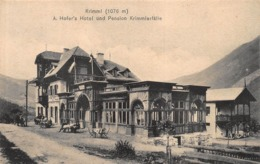 KRIMML AUSTRIA ~ A HOFER'S HOTEL Und PENSION KRIMMLERFALLE ~C JURISCHEK PHOTO POSTCARD 42284 - Krimml