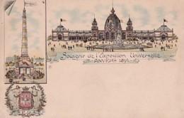 SOUVENIR DE L EXPOSITION UNIVERSELLE     ANVERS 1894     LITHO 3 VUES             PRECURSEUR - Belgique