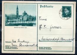 """German Empires 1931 Kopfbild F.Ebert Ganzsache  Mi.Nr.P191/013 """"Besucht Das Schöne Kiel """"1GS Used - Germania"""