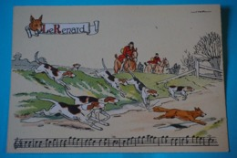CPSM Illustrateur JACK Partition MUSIQUE Sonneries Trompes CHASSE A COURRE CHEVAL CHIEN RENARD 1950/1960 - Autres Illustrateurs