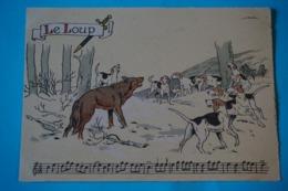 CPSM Illustrateur JACK Partition MUSIQUE Sonneries Trompes CHASSE A COURRE CHEVAL CHIEN LOUP 1950/1960 - Autres Illustrateurs