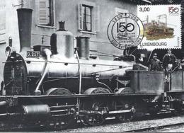 4.10.2009  - Locomotive à Vapeur - Chemin De Fer De L'Est-Type 0030,en Service 1859  Photo CFL - Cartes Maximum
