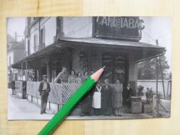 CAFE TABAC - CHAMPOREAUX DEVANTURE COMMERCE MAISON CONSTANT - CARTE PHOTO A IDENTIFIER - Postcards