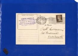##(DAN1911)-Italia 10-2-1933-Cartolina Compagnia Anonima D'Assicurazioni Di Torino Da Brescia Per Orzivecchi - 1900-44 Vittorio Emanuele III