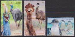 AUSTRALIA, 2019, MNH,BIRDS, FLIGHTLESS BIRDS, PENGUINS, CASSOWARIES, 3v - Pinguïns & Vetganzen