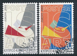 "ZYPERN  Mi.Nr. 1013-1014 A  EUROPA CEPT ""Plakatkunst"" 2003- Used - 2003"