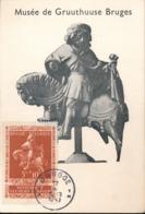 BELGIUM  1942 ISSUE SAINT MARTIN COB 612 MC - Maximum Cards