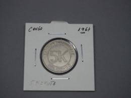 Coin, CONGO, DEMOCRATIC REPUBLIC, 5 Makuta, 1967, EF - Congo (Democratische Republiek 1964-70)