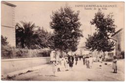 SAINT-LAURENT-DE-LA-SALANQUE - Entrée De La Ville - Francia