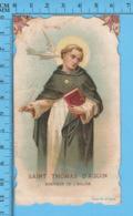 Die Cut   - Saint Thomas D'Aquin, Docteur De L'église -   Holy Card, Santini, Image Pieuse - Santini
