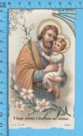 Die Cut   - O Joseph, Presentez à Jesus Toutes Mes Intentions + Priere -   Holy Card, Santini, Image Pieuse - Images Religieuses