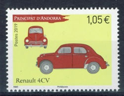 Andorra (French Adm.), Car, Renault 4 CV, 2019, MNH VF - French Andorra