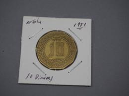 1981 ALGERIA 10 DINARS - RARE VG - Algeria