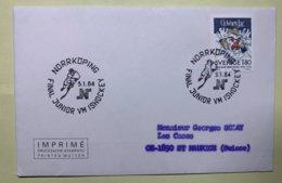 9109 -Hockey Sur Glace Final Junior Championnat Du Monde Norrköping 3.01.1984 - Jockey (sobre Hielo)