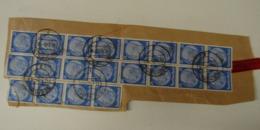 RDB. Ti. 0. 11. Vingt Timbres N°453 Y&T Hindenbutg Assemblés Sur Fragment De Lettre. Oblitération 1942 BOCHUM 1 - Alemania