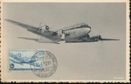 BELGIUM  1946 ISSUE AIR COB PA8 MC - Maximum Cards