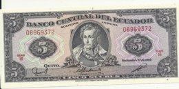 EQUATEUR 5 SUCRES 1988 UNC P 113 D - Ecuador