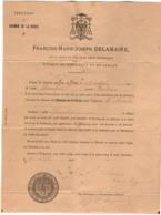 VP16.034  PERIGUEUX - Lettre  M. F.M.J. DELAMAIRE Evêque - Erection Du Chemin De Croix Eglise De La Sicardie à CONDRIEUX - Religion &  Esoterik