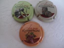 Série De 3 Capsules De Champagne Générique Je Suis Champagne - Sermiers