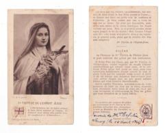 Relique, étoffe Ayant Touché à Sainte Thérèse De L'Enfant Jésus, Lisieux - Santini